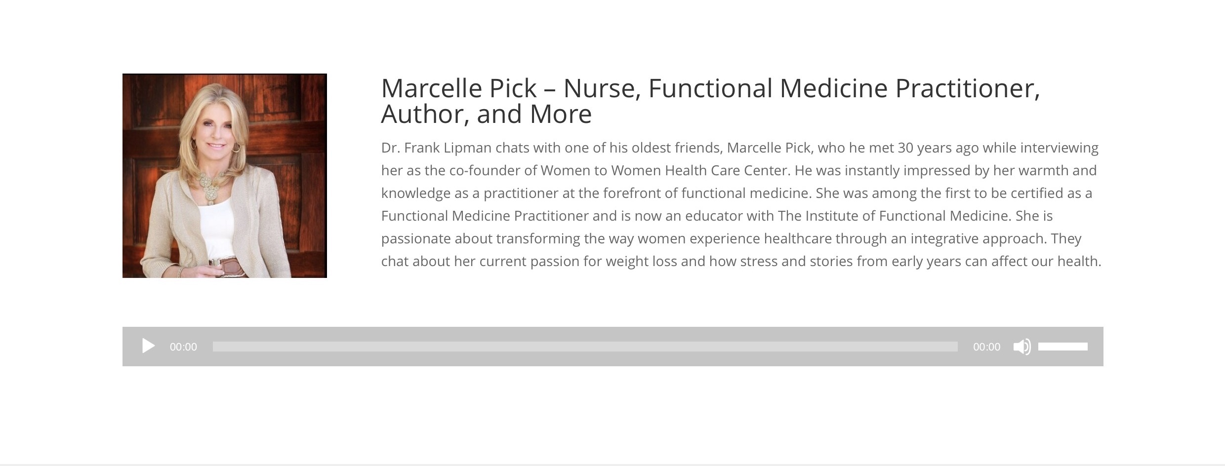 Dr. Frank Lipman Podcast with Marcelle Pick
